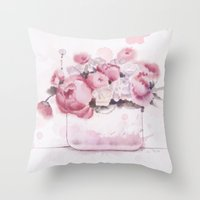The tender touch Throw Pillow