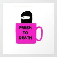 Caffeine Ninja - Fresh T… Art Print