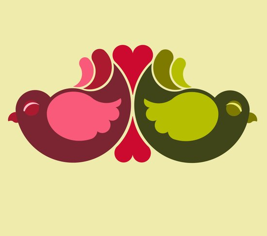 Olive Rosebirds Art Print