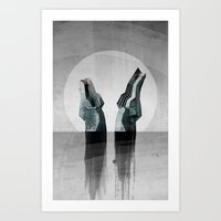 Experimental - Strange Waters Art Print