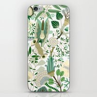 Green Flower Fantasy  iPhone & iPod Skin