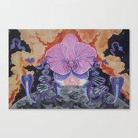 The Cosmic Serpent Canvas Print
