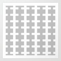 GRAY/WHITE  + Art Print
