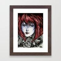 Isura (lilyneck portrait sketch)  Framed Art Print
