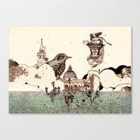 Venice Acqua Alta Canvas Print