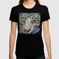 White Tiger Womens Fitted Tee Black SMALL