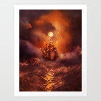 Perfect storm. Art Print