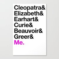 A Short List of Notable Ladies Canvas Print