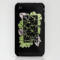 iPhone 3Gs & iPhone 3G Cases featuring Inverted positive &negative paper cut hibiscus illustration by NRJ Art & Commissions