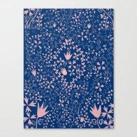 Wildflower Pattern Canvas Print
