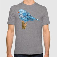 Flowerly Serene Sophia Mens Fitted Tee Tri-Grey SMALL