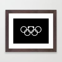 Olympic games logo 2014. Sochi. Bear. Framed Art Print