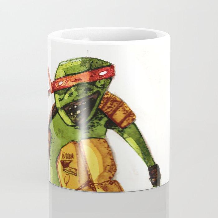 Tortue ninja pizza mug by hugues monki maton society6 - Tortues ninja pizza ...