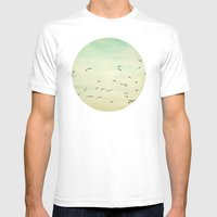 Graceful Flock Mens Fitted Tee White SMALL