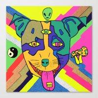 Tripping Puppy Canvas Print