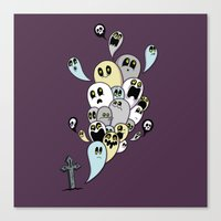 Spooky Ghosts Canvas Print