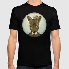 Roo and Tiny Mens Fitted Tee Black SMALL