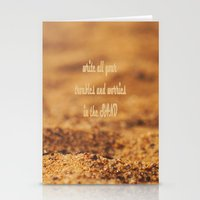 Write Your Troubles on the Sand Stationery Cards