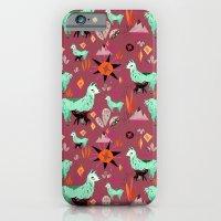 Llama At Dusk pattern iPhone 6 Slim Case