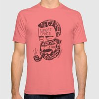 absurd Mens Fitted Tee Pomegranate SMALL