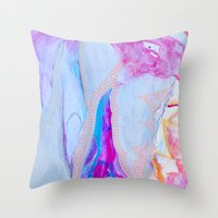Fire in the Center of the Cave Throw Pillow