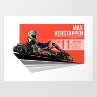 Max Verstappen - 2011 Po… Art Print