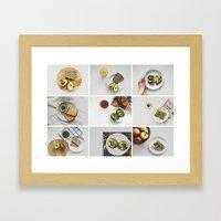 Morning stories - AVOCADO set Framed Art Print