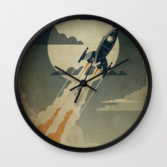 Night Launch Wall Clock
