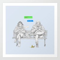 THE CONVERSATION Art Print