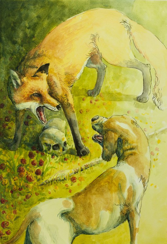 The Teumessian fox Art Print