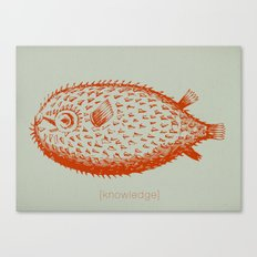 knowledge puffs up Canvas Print