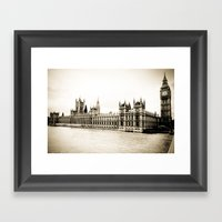 Big Ben And The Houses O… Framed Art Print