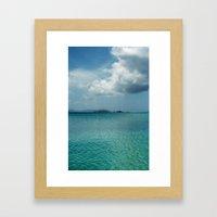Caribbean Sea View Framed Art Print