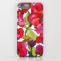 iPhone & iPod Case featuring Scarlet Tulips by Marcella Wylie