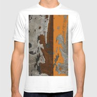 Abstract textured art work Mens Fitted Tee White SMALL