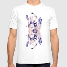 aozora White Mens Fitted Tee SMALL