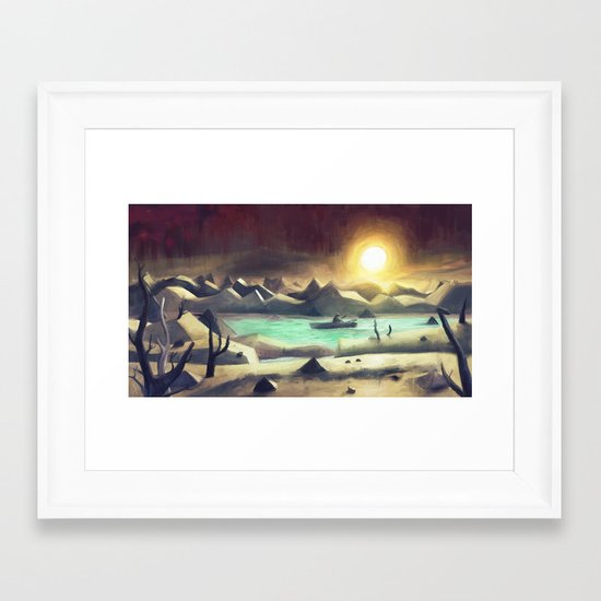 Solitude On Lake Cyanide Framed Art Print