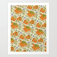 Bird pattern Art Print