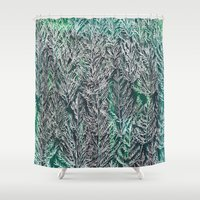 Snow Pines (Green) Shower Curtain
