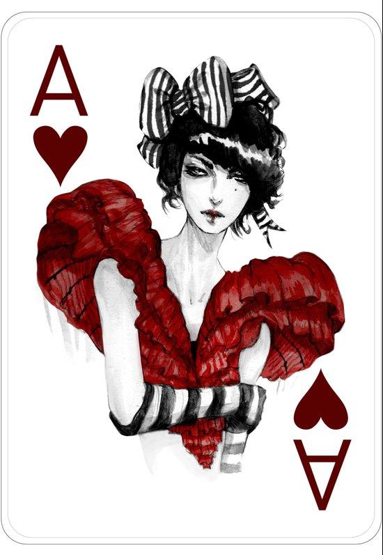 Ace of Hearts Art Print
