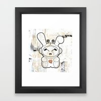 Space Bunny Framed Art Print