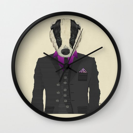 mr badger Wall Clock