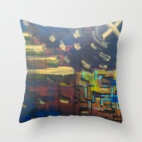 Landscape/Towers Throw Pillow