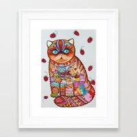 Sweet cat Framed Art Print
