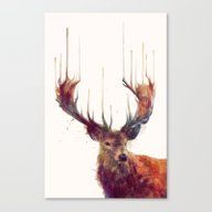 Canvas Print featuring Red Deer // Stag by Amy Hamilton