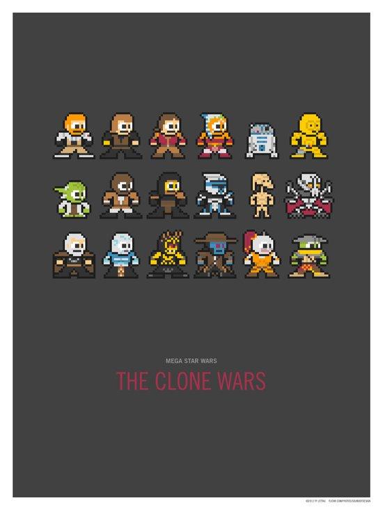 Mega Star Wars: The Clone Wars Canvas Print