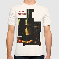 Still Life With Wine Mens Fitted Tee Natural SMALL