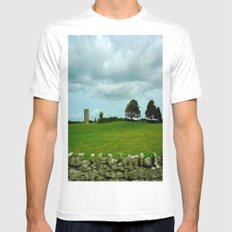Speeding By The Irish Countryside White SMALL Mens Fitted Tee
