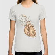 Tree Of Life Womens Fitted Tee Silver X-LARGE