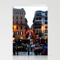 Rain in Rome in Colour Stationery Cards